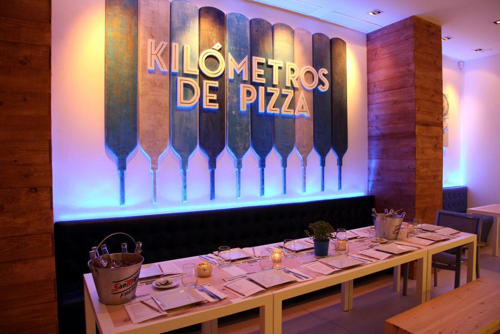 restaurante kilómetros de pizza