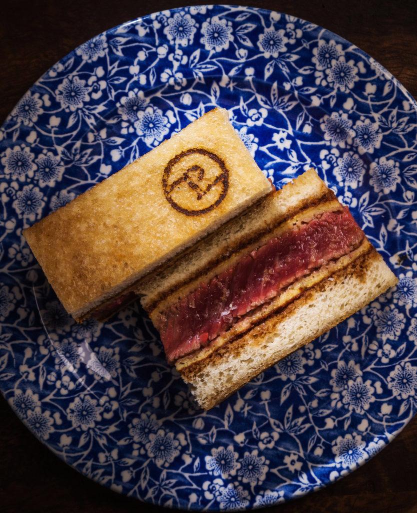 Sandwich Pedegrú, solomillo de vaca madurado, Pedegrú