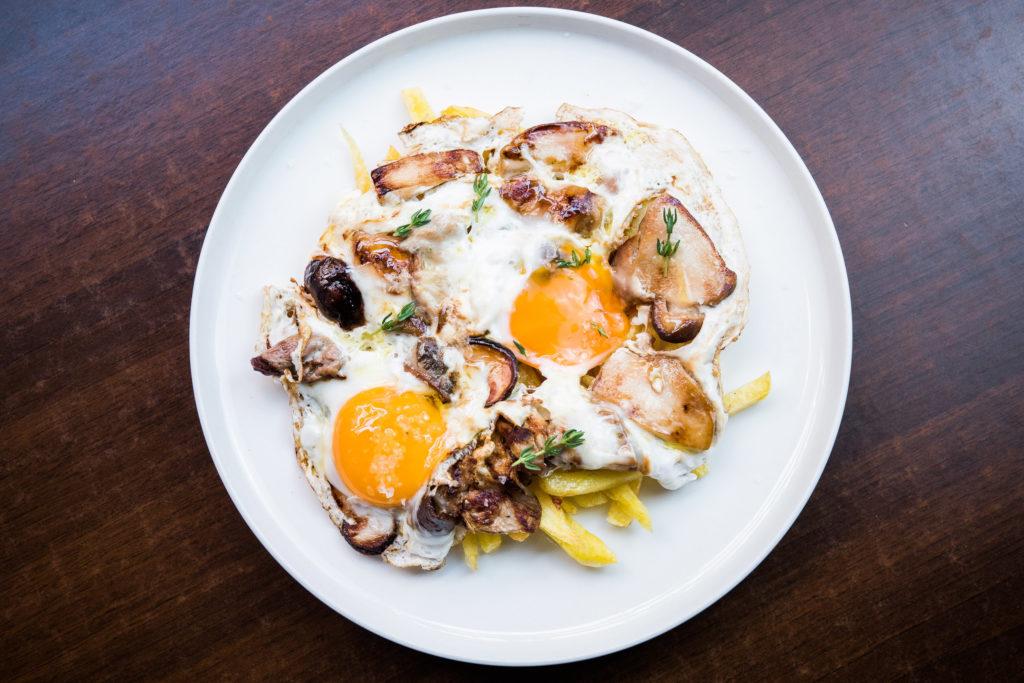 Tortilla vaga de boletus con huevo de corral, La Dominga