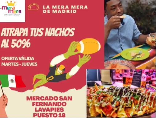 50% Dto. Nachos La Mera Mera